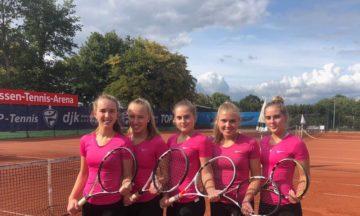 Tennis: U18-Juniorinnen peilen Rang zwei an