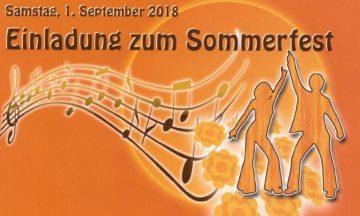 Sommerfest: Wir freuen uns auf Dich